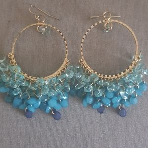 Boutique bead Stone chandelier earrings